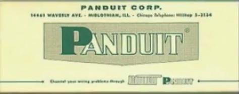 pierwsze logo firmy Panduit